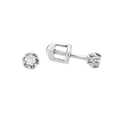 Сережки-пусети (гвоздики) срібні з фіанітами (СВ321)