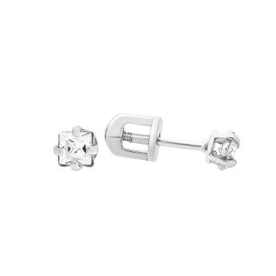 Сережки-пусети (гвоздики) срібні з фіанітами (СВ323)