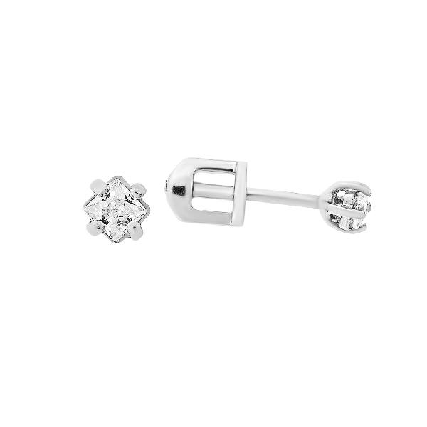 Сережки-пусети (гвоздики) срібні з фіанітами (СВ324)