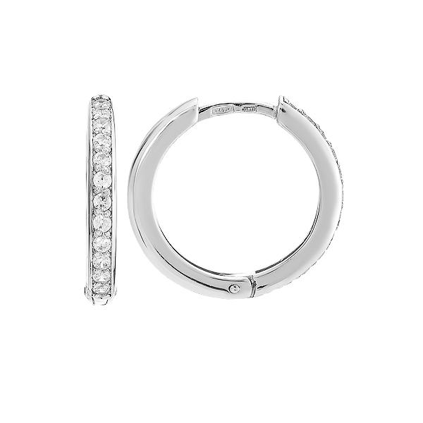 Сережки-кільця (конго) срібні доріжка з фіанітами (СВ644)