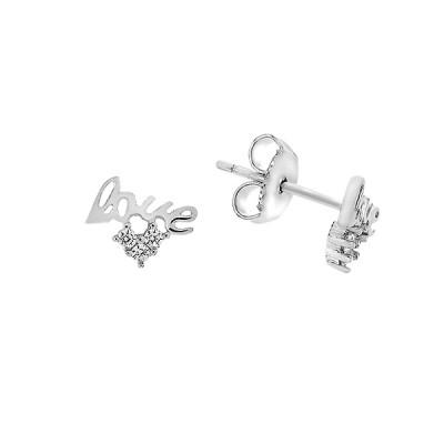 Сережки-пусети срібні фантазія з фіанітами (TE3851)