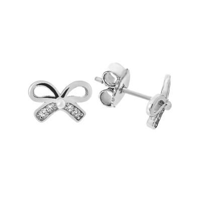 Сережки-пусети срібні фантазія з розсипом (TE3944)