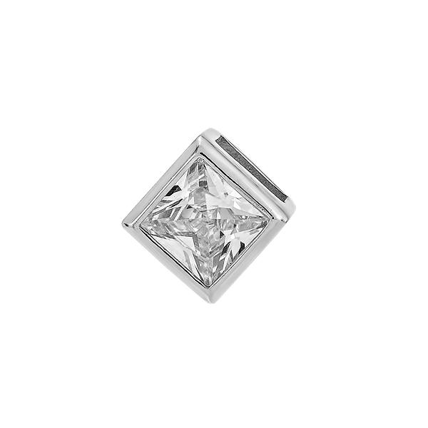 Підвіска срібна з фіанітом (TP 0265-SQ4П.Rh)