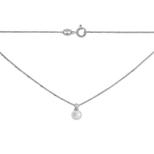 Кольє срібне з намистиною (VD 4L00 PRL 015)